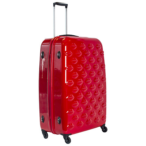 Buy Lulu Guinness Lips 4-Wheel Large Suitcase Online at johnlewis.com