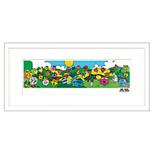 Buy Roger Hargreaves - Little Miss Framed Print, 48 x 103cm Online at johnlewis.com