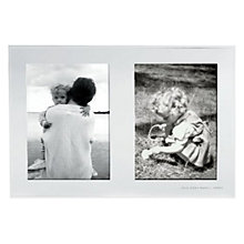 "Buy kate spade new york And Baby Makes Three Announcement Frame, 15 x 10"" (37 x 26cm), Silver Online at johnlewis.com"