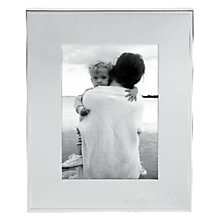 "Buy kate spade new york And Baby Makes Three Photo Frame, 5  x 7"" (13 X 18cm), Silver Online at johnlewis.com"