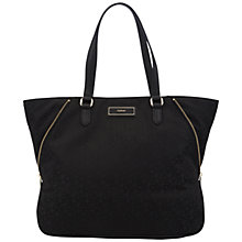Buy DKNY Town & Country Large Zip Tote Bag, Printed Black Online at johnlewis.com