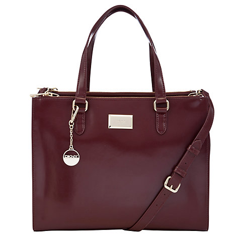 Buy DKNY Hudson Double Zip Shopper Handbag, Red Online at johnlewis.com