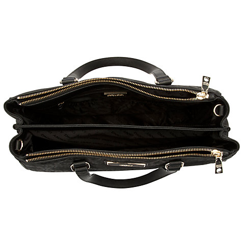 Buy DKNY Town & Country Saffiano Zipped Work Shopper Handback, Black Online at johnlewis.com