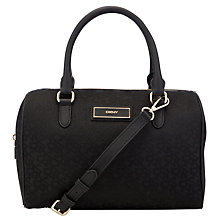Buy DKNY Saffiano Satchel Handbag, Black Print Online at johnlewis.com