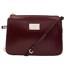 Buy DKNY Hudson Cross Body Handbag, Red Online at johnlewis.com
