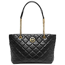 Buy MICHAEL Michael Kors Large Fulton Quilted Tote Bag, Black Online at johnlewis.com