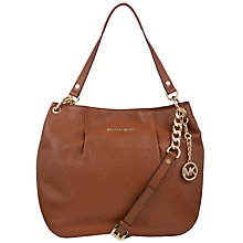 Buy MICHAEL Michael Kors Bedford Shoulder Handbag, Brown Online at johnlewis.com
