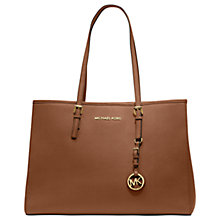 Buy MICHAEL Michael Kors Jet Set East/West Large Leather Tote Handbag Online at johnlewis.com