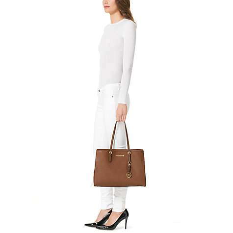 Buy MICHAEL Michael Kors Jet Set Large Leather East/West Tote Bag Online at johnlewis.com