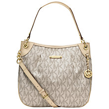 Buy MICHAEL Michael Kors Large Jet Set Signature Shoulder Bag, Vanilla Online at johnlewis.com