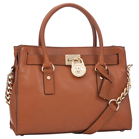 Buy MICHAEL Michael Kors Hamilton 18K East/West Satchel Bag Online at johnlewis.com