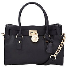Buy MICHAEL Michael Kors Hamilton 18K East/West Leather Satchel Online at johnlewis.com