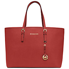 Buy MICHAEL Michael Kors Medium Jet Set Multifunction Saffiano Tote Handbag Online at johnlewis.com