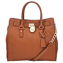 Buy MICHAEL Michael Kors Hamilton 18K Large Leather North/South Tote Bag Online at johnlewis.com