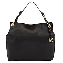 Buy MICHAEL Michael Kors Jet Set Large Slouchy Shoulder Bag, Black Online at johnlewis.com