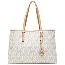 Buy MICHAEL Michael Kors Jet Set Large Leather East/West Tote Handbag Online at johnlewis.com