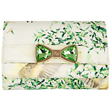 Buy Ted Baker Darlia Bow Clutch Bag, Light Green Online at johnlewis.com
