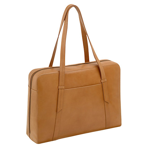 Buy Radley Malton Leather Large Work Bag, Tan Online at johnlewis.com