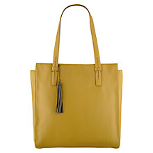 Buy Radley Adwick Large Zipped Tote Handbag, Yellow Online at johnlewis.com