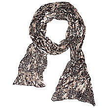 Buy Betty Barclay Crinkle Animal Scarf, Beige / Black Online at johnlewis.com