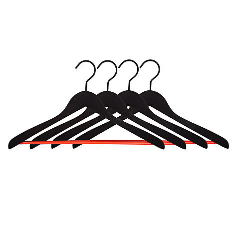 Buy nomess COPENHAGEN Soft Hanger, Black / Orange, Set of 4 Online at johnlewis.com