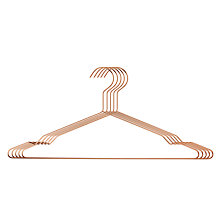 Buy Hay Wire Hangers, Set of 5, Copper Online at johnlewis.com