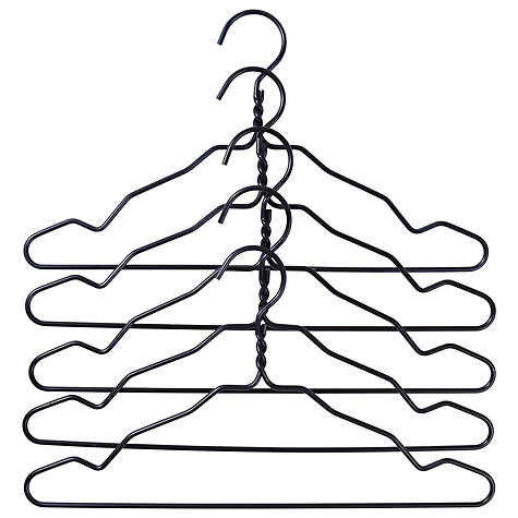Buy Hay Wire Hangers, Set of 5, Black Online at johnlewis.com