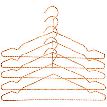 Buy Hay Twisted Wire Hangers, Set of 5, Copper Online at johnlewis.com