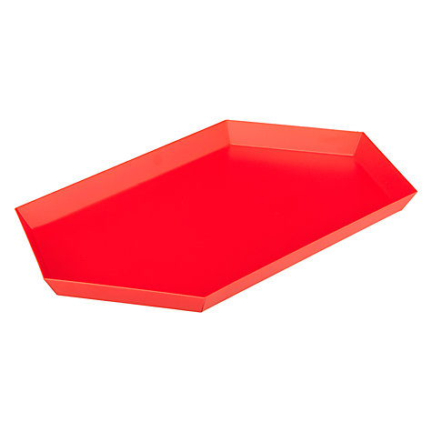 Buy HAY Kaleido Tray, Medium, Red Online at johnlewis.com