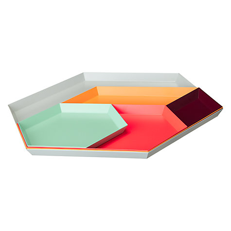 Buy HAY Kaleido Tray, Extra Small, Aubergine Online at johnlewis.com
