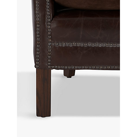 Buy Halo Little Professor Biker Tan Leather Armchair Online at johnlewis.com