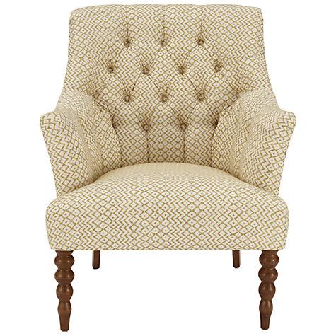 Buy John Lewis Highlands Armchair, Cheslyn Citroen/Cream Online at johnlewis.com