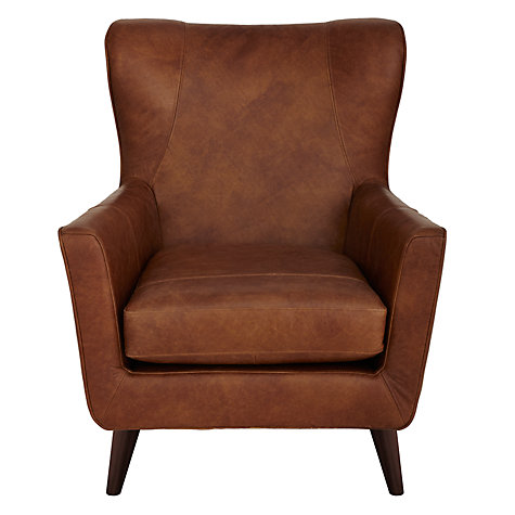 Buy John Lewis Thomas Leather Armchair, Lustre Cappuccino Online at johnlewis.com