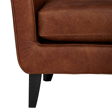 Buy John Lewis Thomas Semi-Aniline Leather Armchair, Lustre Cappuccino Online at johnlewis.com