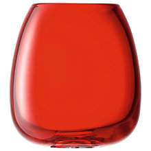 Buy LSA Flower Colour Table Vase, H19cm, Posy Red Online at johnlewis.com