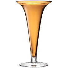 Buy LSA Flower Colour Pedestal Vase, H36cm, Amber Online at johnlewis.com