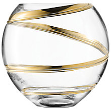 Buy LSA Malika Grand Gold Globe Vase, H16cm, Clear/ Gold Online at johnlewis.com