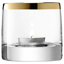 Buy LSA Storm Tealight Holder, Light Gold Online at johnlewis.com
