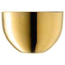 Buy LSA Malika Grand Tealight, Gold/ Clear Online at johnlewis.com
