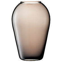 Buy LSA Flower Colour Vase, H30cm, Mocha Online at johnlewis.com
