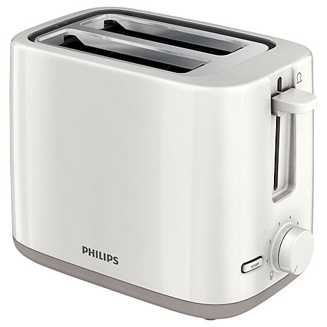 Buy Philips HD2595/01 Daily Collection 2-Slice Toaster, White Online at johnlewis.com