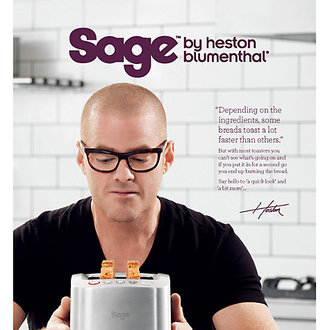 Buy Sage by Heston Blumenthal Smart 2-Slice Toaster, Brushed Metal Online at johnlewis.com