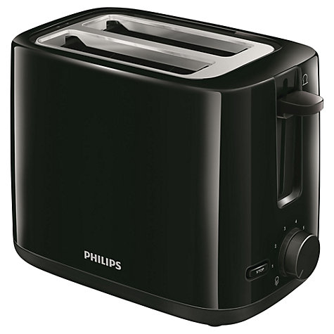 Buy Philips HD2595/91 Daily Collection  2-Slice Toaster, Black Online at johnlewis.com