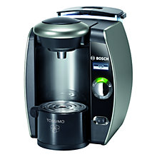 Buy Bosch TAS6515GB Tassimo Coffee Machine, Titanium Online at johnlewis.com