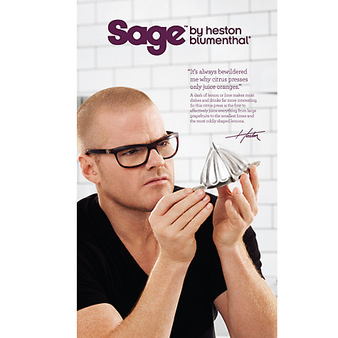 Buy Sage by Heston Blumenthal the Citrus Press, Silver Online at johnlewis.com