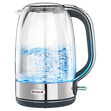 Buy Breville VKJ628 Crystal Clear Jug Kettle, Glass/Stainless Steel Online at johnlewis.com