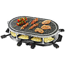 Buy Swan SP17030 'Come Dine With Me' Electric Stone Griddle Raclette Online at johnlewis.com