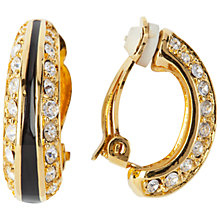 Buy Susan Caplan Vintage 1980s Christian Dior Diamante Demi Hoop Earrings, Gold Online at johnlewis.com