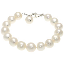 Buy Lido Pearls Extra Large Freshwater Pearl Single Row Bracelet, White Online at johnlewis.com