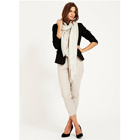 Buy Mint Velvet Metallic Studded Scarf, Silver Online at johnlewis.com